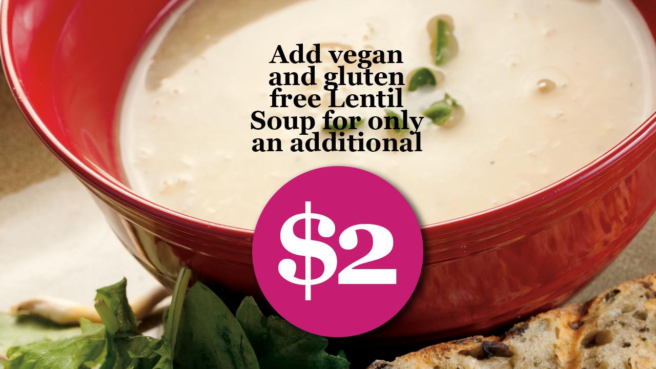 Add Lentil Soup $2