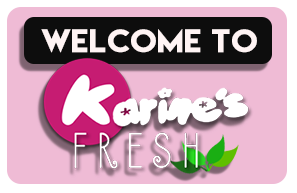 Welcome to Karines Fresh with Logo bg